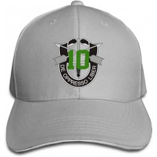 10th Special Forces Group Spg Baseball Caps Adjustable Sandwich Caps Sandwich Caps Gray B09176NKSS