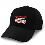 Being Forced to Wear This Mask by Idiots Adult Curved Baseball Cap Dirt Resistant and Washable Adjustable Elastic Fashion Black  B08WHPNLZ2