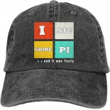 I Ate Some Pi and It was Tasty Outdoor Men's Baseball Cap Sports and Leisure Adjustable Cowboy Hat Performance Cap Black  B098WQPFTG