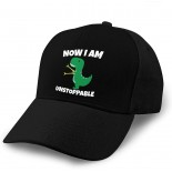 Now I Am Unstoppable Adult Curved Baseball Cap Dirt Resistant and Washable Adjustable Elastic Fashion Black  B08YZ58Y5L