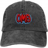 Oh!MyGod! Unisex Soft Casquette Cap Fashion Hat Vintage Adjustable Baseball Caps One Size Fashion Can be Washed Black  B08QN86SWN