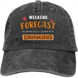 PVMWOV Weekend Forecast Camping with A Chance of Drinking Outdoor Men's Baseball Cap Sports and Leisure Adjustable Cowboy Hat Performance Cap Black  B098WN96ZM