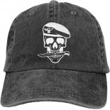 Skull Army Unisex Soft Casquette Cap Fashion Hat Vintage Adjustable Baseball Caps One Size Fashion Can be Washed Black  B08R2KJ3CW