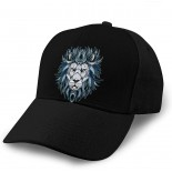 sudoki African Lion Adult Curved Baseball Cap Dirt Resistant and Washable Adjustable Elastic Fashion Black  B08WHP8H9P