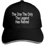 Baseball Caps for Women Men Adjustable,The One The Only The Legend Has Retired Fashion Sports Trucker Hat Black  B099KQ9Q22