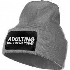 Adulting is Not for Me Today Slouchy Beanie for Men Women Winter Hats Warm Knit Skull Cap One Size B08R3TG2WS