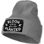 Bloom Where You are Planted Slouchy Beanie for Men Women Winter Hats Warm Knit Skull Cap One Size B08RJ7K8PM