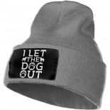 POCKWEEN I Let The Dogs Out Slouchy Beanie for Men Women Winter Hats Warm Knit Skull Cap One Size B08PFFNYV3