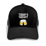 Today's Therapy Beer Baseball Caps Adult Adjustable Cap Breathable Mesh Cap Black  B09637MKZF